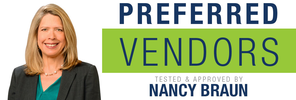 Nancy Braun Preferred Vendor List