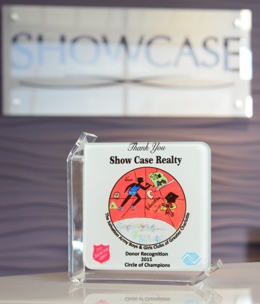 Showcase Realty Awarded Donor Recognition from Boys & Girls Clubs of Greater Charlotte