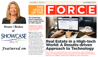 Nancy Braun, Owner of Showcase Realty, Featured in Real Estate Industry Publication
