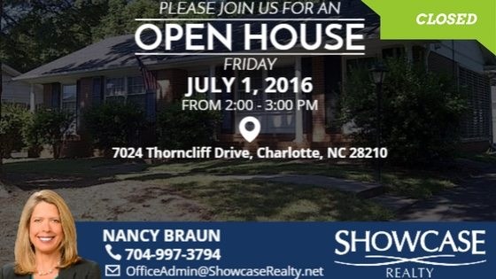 7024 THORNCLIFF DR CHARLOTTE NC 28210, Home for Rent