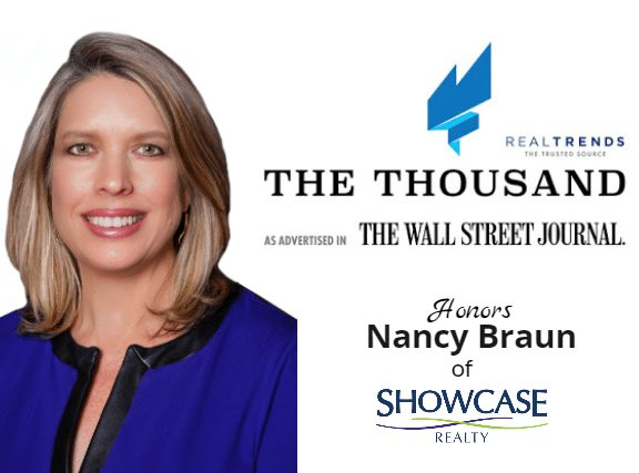 Nancy Braun of Showcase Realty LLC Named One of America's Top 1,000 Real Estate Professionals by Real Trends, as Advertised in the Wall Street Journal