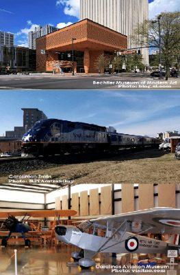 Bechtler Museum of Modern Art, Carolinas Aviation Museum, Carolinian Train, 4908 Elizabeth Road Charlotte NC 28269