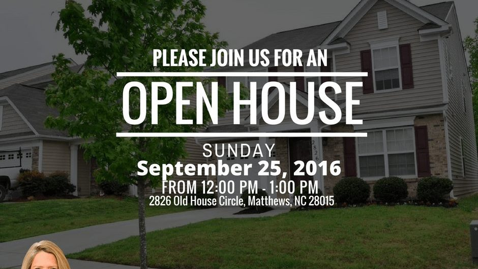 Open House, 2826 Old House Circle Matthews NC 28015