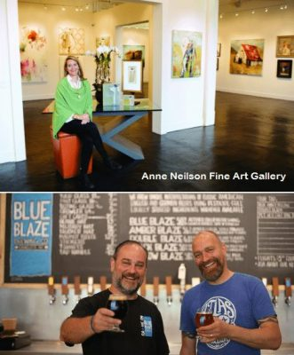 8529 Westhope Street Charlotte NC 28216, townhouse for sale, Anne Neilson Fine Art Gallery, Blue Blaze Brewing