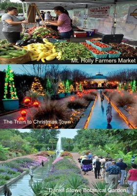 Mt. Holly Farmers Market, The Train to Christmas Town, Daniel Stowe Botanical Garden, home for sale,
