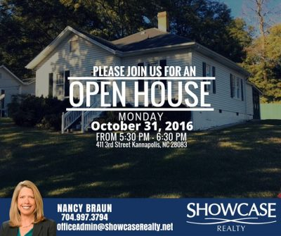 411 3rd Street Kannapolis NC 28083, home for rent,open house