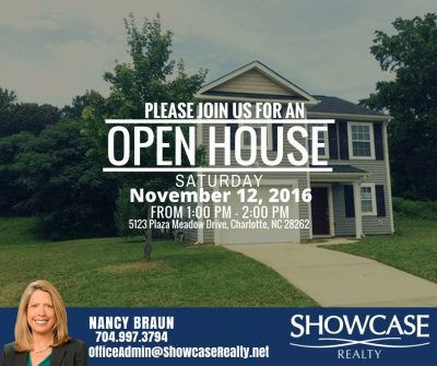 5123 Plaza Meadow Drive Charlotte NC 28262, homes for rent in Charlotte NC, open house