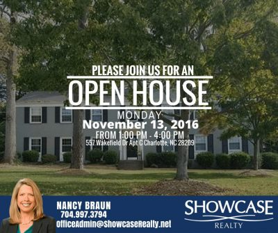 557 Wakefield Drive Apt.C Charlotte NC 28209,homes for sale in Charlotte NC,open house