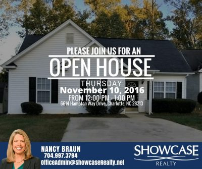 6614 Hampton Way Drive Charlotte NC 28213, home for rent in charlotte NC,open house