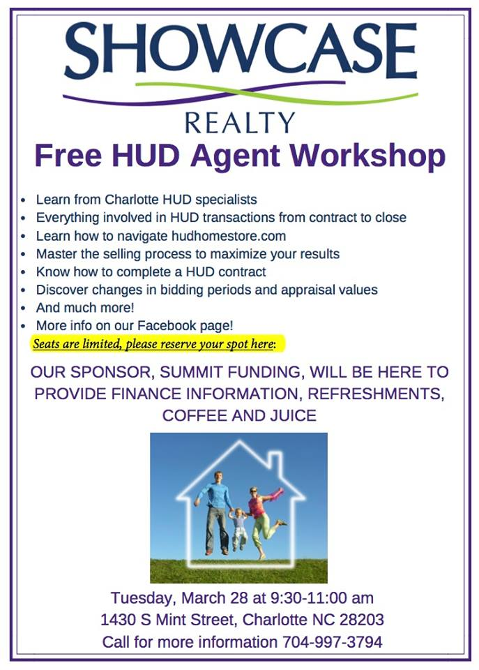 FREE HUD Agent Workshop for Charlotte NC Real Estate Agents