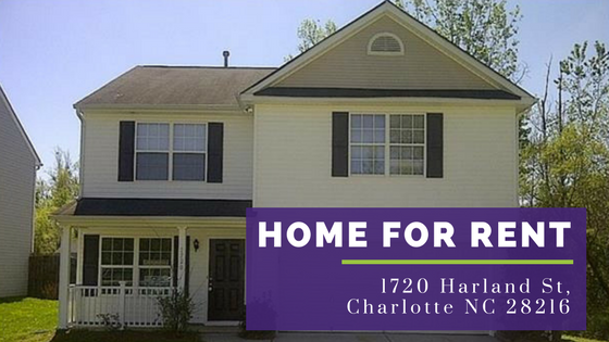 1720 harland st charlotte nc 28216 home for rent - 4 bedroom homes for rent in charlotte nc ...