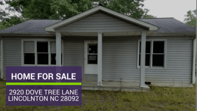 Home for Sale in Lincolnton NC