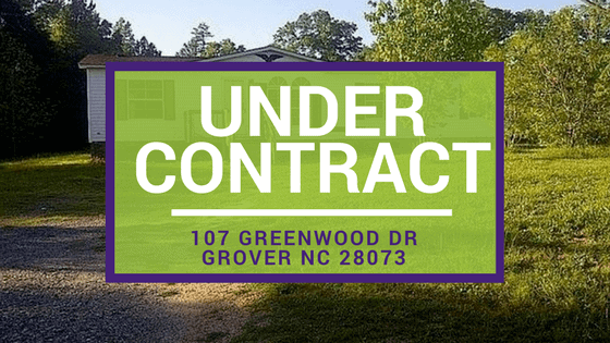 Under Contract | 107 Greenwood Dr Grover NC 28073