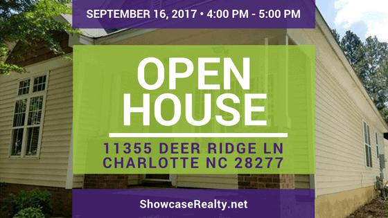 Open House: 11355 Deer Ridge Lane Charlotte NC | Home for Rent