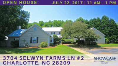 Home for Sale Open House: 3704 Selwyn Farms Ln #2 Charlotte NC 28209
