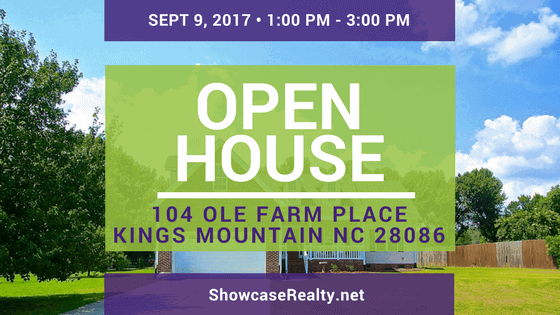 OPEN HOUSE: 104 Ole Farm Place Kings Mountain NC 28086   Home for Sale
