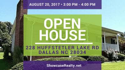 Home for Sale Open House: 228 Huffstetler Lake Rd Dallas NC 28034