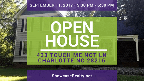 Home for Sale Open House: 433 Touch Me Not Ln Charlotte NC 28216
