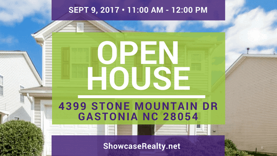 Home for Rent Open House: 4399 Stone Mountain Dr Gastonia NC 28054