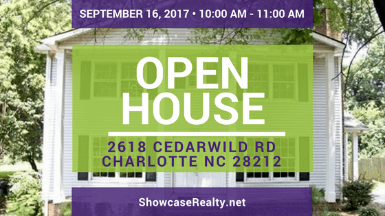 Home for Sale Open House: 2618 Cedarwild Rd Charlotte NC 28212