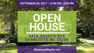 Home for Sale Open House: 3418 Draper Ave Charlotte NC 28205