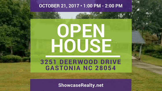 Home for Rent Open House: 3251 Deerwood Drive Gastonia NC 28054