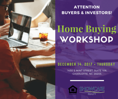 Free Home Buying Workshop for Charlotte NC Real Estate Investors and Home Buyers