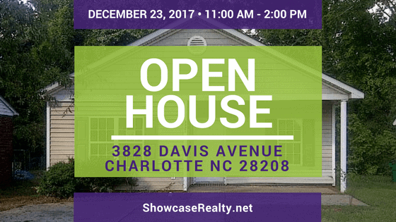 Home for Sale Open House: 3828 Davis Ave Charlotte NC 28208
