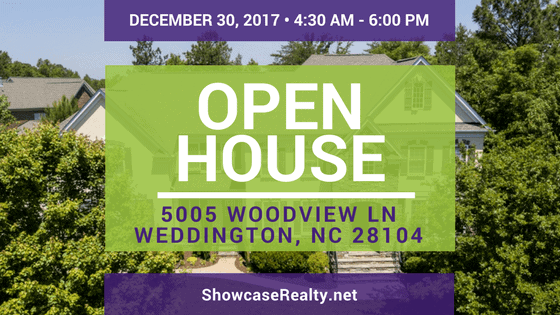 Home for Sale Open House: 5005 Woodview Ln, Weddington, NC 28104