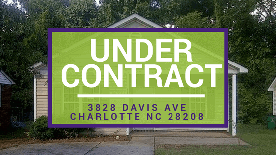 UNDER CONTRACT: 33828 Davis Ave Charlotte NC 28208