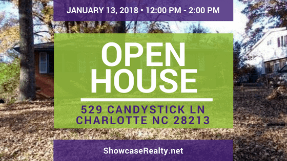 Home for Sale Open House: 529 Candystick Ln Charlotte NC 28213