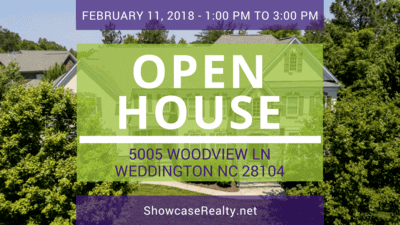 Home for Sale: Open House - 5005 Woodview Ln, Weddington, NC 28104
