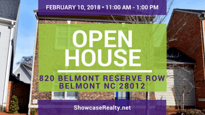 Home for Sale Open House: 820 Belmont Reserve Row Belmont NC 28012