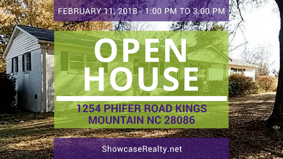 OPEN HOUSE: 1254 PHIFER ROAD KINGS MOUNTAIN NC 28086