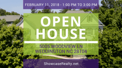 Home for Sale: Open House - 5005 Woodview Ln, Weddington, NC 28104