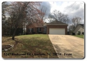 5247 Rockwood Road,Charlotte,Mecklenburg,North Carolina,United States 28216,3 Bedrooms Bedrooms,2 BathroomsBathrooms,Home,Rockwood Road,1377